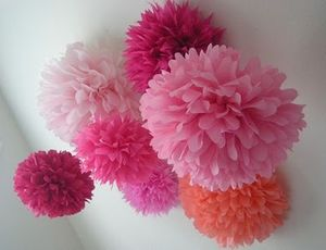 Pink, Indubitably Pom Poms from PomLove on etsy