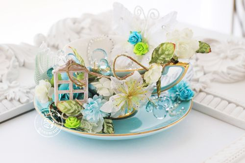 Altered Tea Cup & Saucer